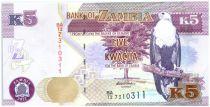 Zambie 5 Kwacha Aigle - Lion