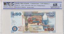 Zambie 50 Kwacha Aigle - 50 ans Independance -2014 - PCGS 68 OPQ