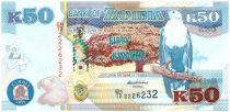 Zambie 50 Kwacha Aigle - 50 ans Independance