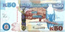 Zambie 50 Kwacha Aigle - Leopard - 2014