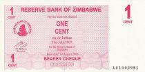 Zimbabwe 1 Cent - Chiremba - Rose - Valeur faciale - 2006