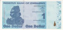 Zimbabwe 1 Dollar - Chiremba - Bleu - Macération du graine - 2009