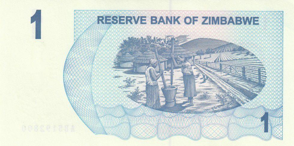 Banknote Zimbabwe 1 Dollar Womens 2006