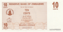 Zimbabwe 10 Cents - Chiremba - Brown - Face value - 2006