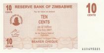 Zimbabwe 10 Cents - Chiremba - Marron - Valeur faciale - 2006
