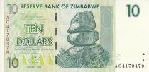 Zimbabwe 10 Dollars - Chiremba - Vert forte - Tracteur - Cilos - 2007 (2008)