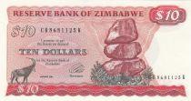 Zimbabwe 10 Dollars 1983 - Chiremba, Impala, Ville