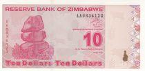 Zimbabwe 10 Dollars 2009 - Village