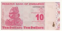 Zimbabwe 10 Dollars 2009 - Village