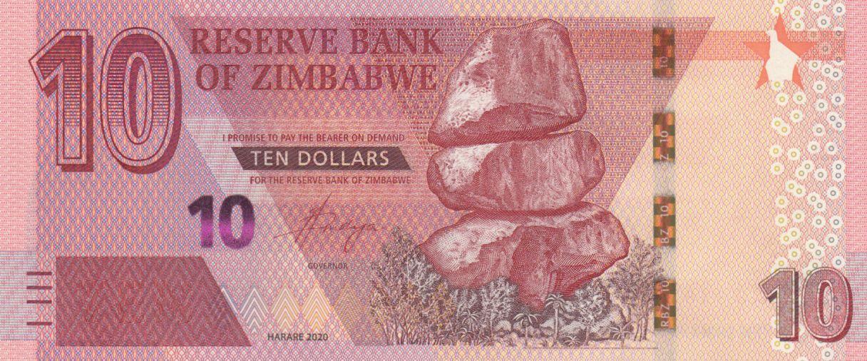 Zimbabwe 10 Dollars Chiremba - 2020 - UNC