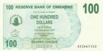 Zimbabwe 100 Dollar Montagne - 2006