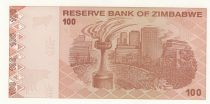 Zimbabwe 100 Dollars Chiremba - Monument - 2009