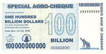 Zimbabwe 100 Millard de $ de $, Girafes, Silo