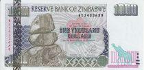 Zimbabwe 1000 Dollars - Chiremba - Éléphants - 2003