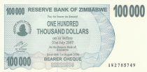 Zimbabwe 100000 Dollars - Chiremba - Bleu et vert - Ruines - 2006