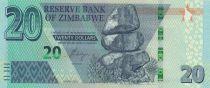 Zimbabwe 20 Dollars Chiremba - Eléphant - 2020 - Neuf