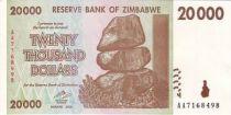 Zimbabwe 20000 Dollar Chiremba - Waterfall