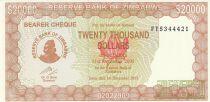Zimbabwe 20000 Dollars - Chiremba - Fleur - 2003