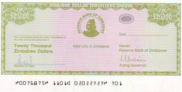 Zimbabwe 20000 Dollars Chiremba - Fleur