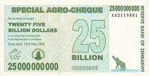 Zimbabwe 25 Millard de $ de $, Girafes