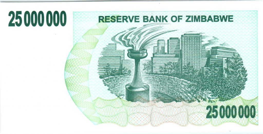 Zimbabwe 25 Million de $, Monument