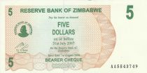 Zimbabwe 5 Dollars - Chiremba - Green and brown - Torch - 2006