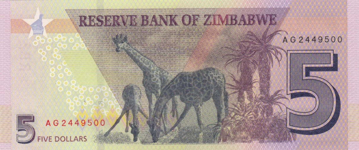 Zimbabwe 5 Dollars Chiremba - 2020 - UNC