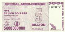Zimbabwe 5 Millard de $ de $, Girafes, Silo