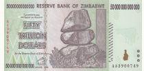Zimbabwe 50 000 000 000 000 Dollars 2008 - Chiremba, Barrage, Eléphant