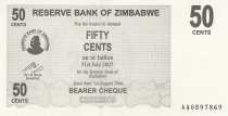 Zimbabwe 50 Cents - Chiremba - Black - Face value - 2006