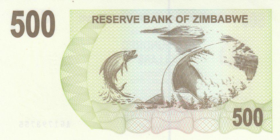 Zimbabwe 500 Dollar Barrage, poisson tigre - 2006