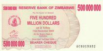 Zimbabwe 500 Million de $ de $, Fish, dam - 2008