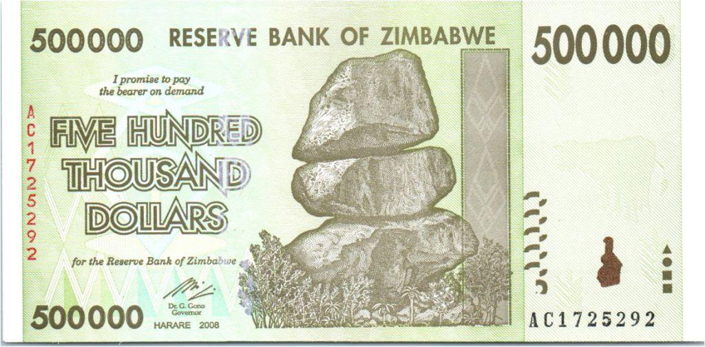 Zimbabwe 500000 Dollar Chiremba - Vaches