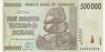 Zimbabwe 500000 Dollars - Chiremba - Vaches - 2008 - Série AA