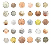 Zimbabwe Lot 30 coins from 30 countries - AU