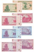 Zimbabwe Set of 4 banknotes from Zimbabwe - 2009