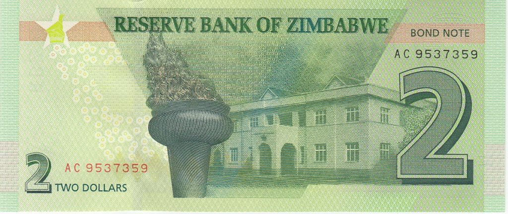 Zimbabwe Zimbabwe 2 Dollars Rochers - Palais 2016